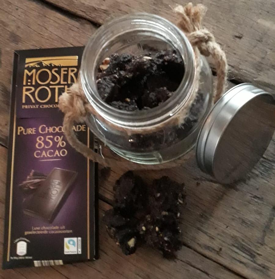 chocolade walnoten tussendoortje snack gezond